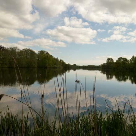 Niederrheinische Seenlandschaft in der Naehe der Flachshof Ferienwohnungen Nettetal