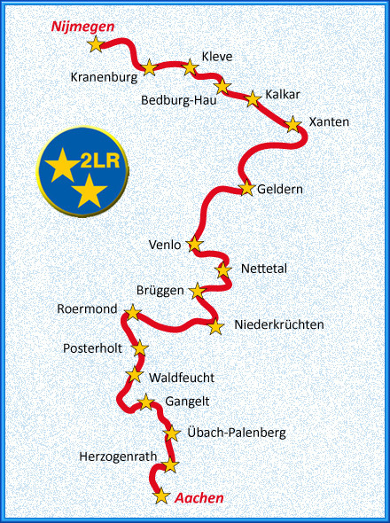 Radwandern auf dem Europaeischen Fernradwanderweg 2-Laender-Route am Niederrhein NRW