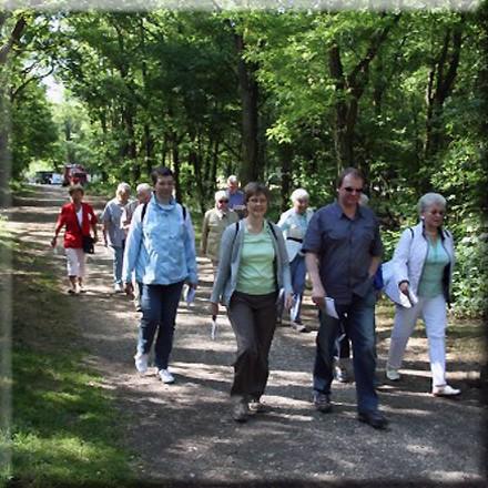 Wandern auf dem Wandertag in Nettetal-Hinsbeck am Niederrhein