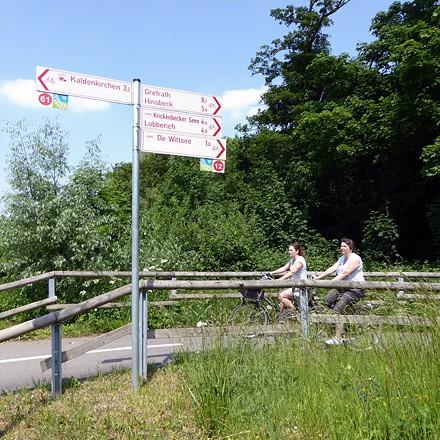 Radwandern am Niederrhein in der Freizeitregion an der holländischen Grenze