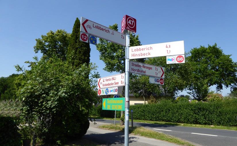 Radeln nach Zahlen - Radfahrer Knotenpunktsystem Kreis Viersen Niederrhein NRW