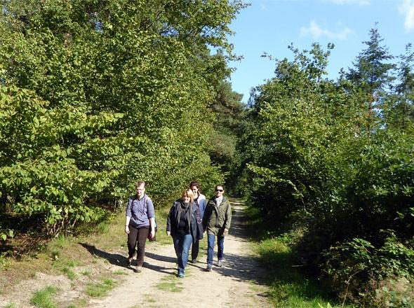 Wandern im Grenzwald Kaldenkirchen Niederrhein auf dem Premiumwanderweg Galgenvenn