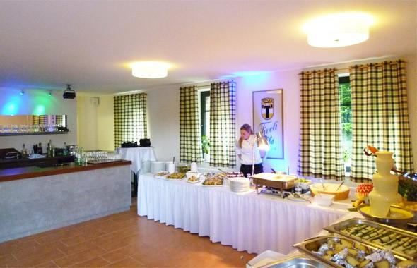 Feierlocation Flachshof Nettetal - Buffetbereich Bauernstube