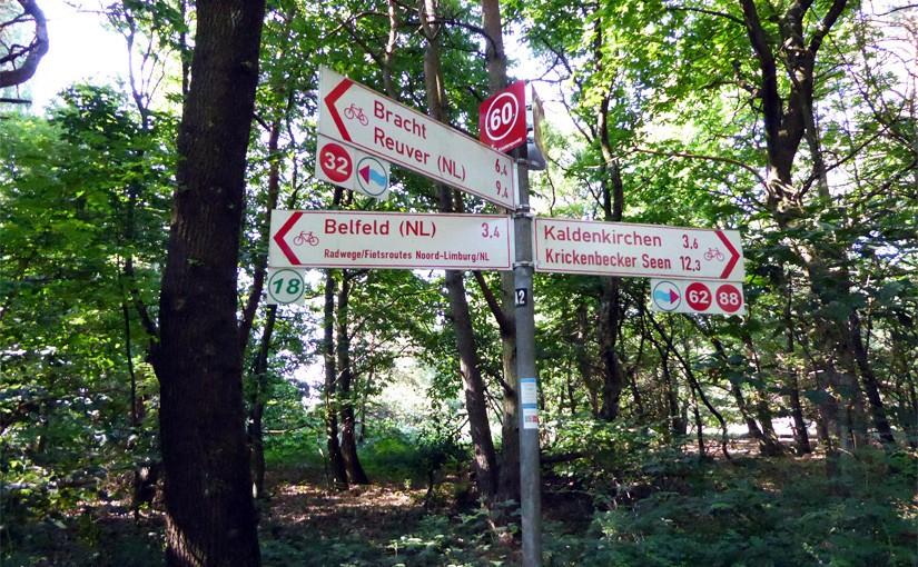 Radfahren im Kreis Viersen - Radeln nach Zahlen am Niederrhein im Grenzwald Kaldenkirchen