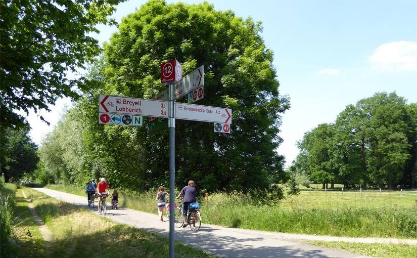 Radwander-Knotenpunktsystem am Niederrhein im Kreis Viersen