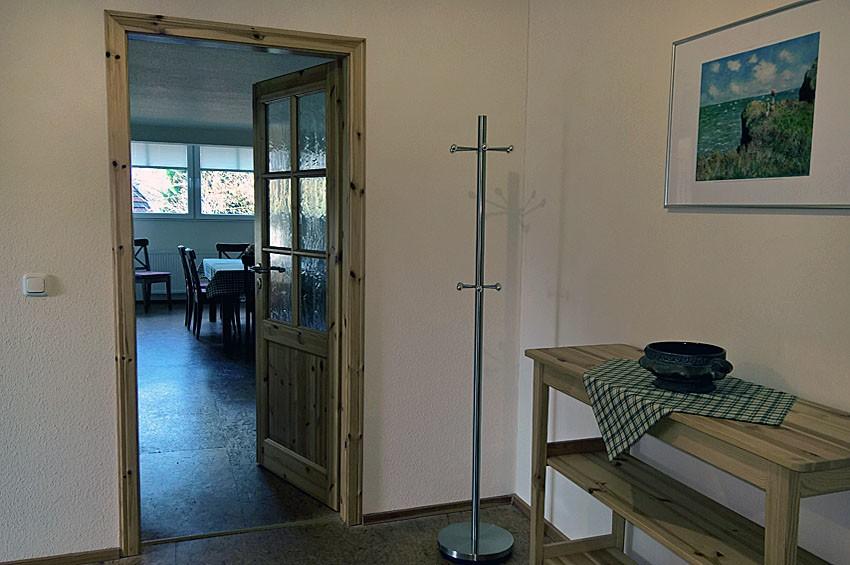 Eingangsbereich Flacvhshof Ferienwohnung Getreidemühle